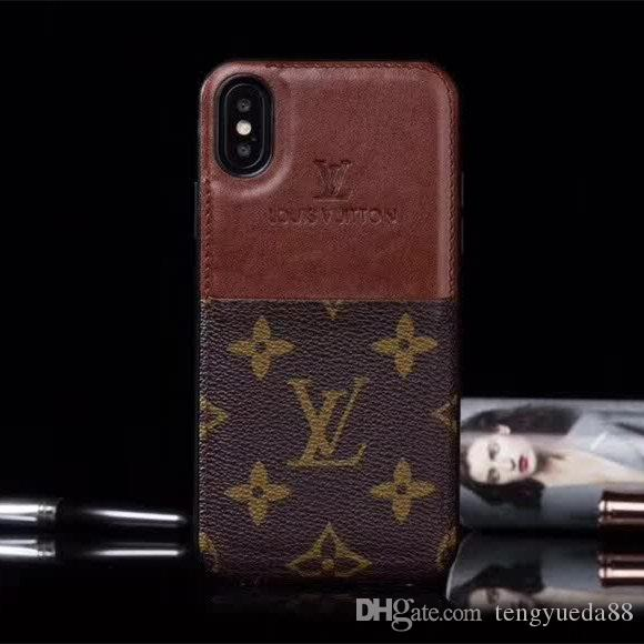 brand new ef589 1736e Top Luxury Phone Case for iphone X XS XR Xs Max High Quality Leather Cover  Case for Iphone 6 6plus 7/8 7/8 Plus Designer phone case