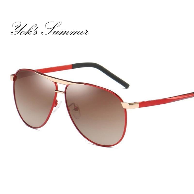 070aa8a0db Yok S Polit Polarized Blue Sunglasses Men Oversized Military Sun Glasses  Korean Women Brown Shades Drivers Driving Goggles Eyewear HN1061 Locs  Sunglasses ...