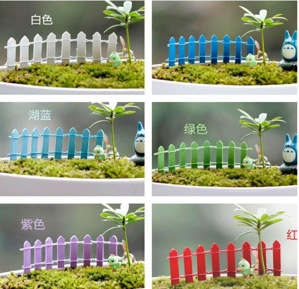 2018 artificial fence fairy garden miniatures gnome moss terrarium decor resin crafts bonsai home micro landscape decor for diy zakka from johnnycake - Fairy Garden Miniatures