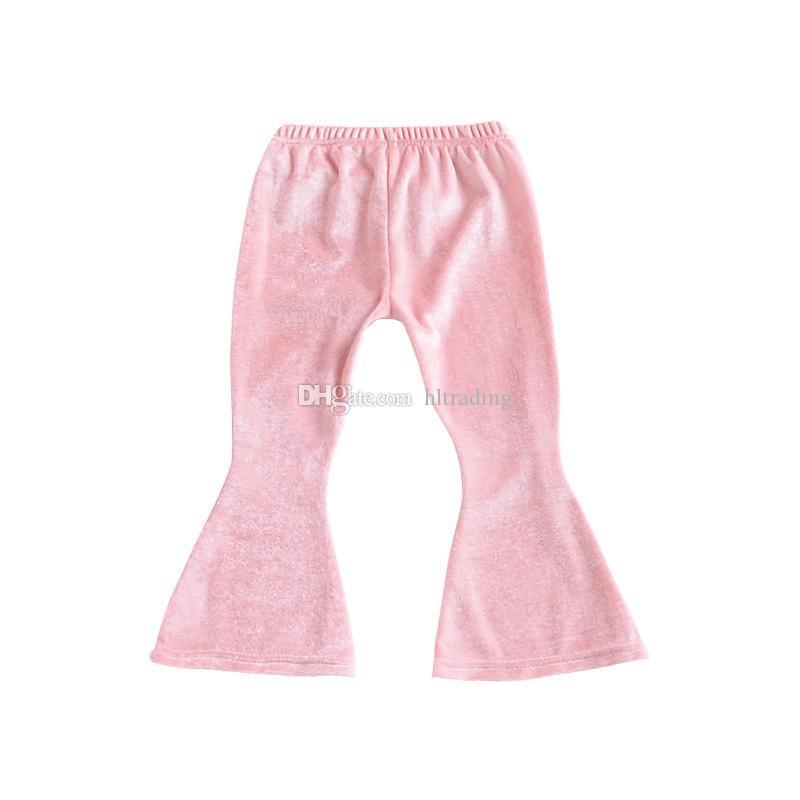 Niñas bebés Pantalón Flare de terciopelo dorado INS Leggings niños Pantalones 2018 nueva moda para niños Boutique Clothing C3646