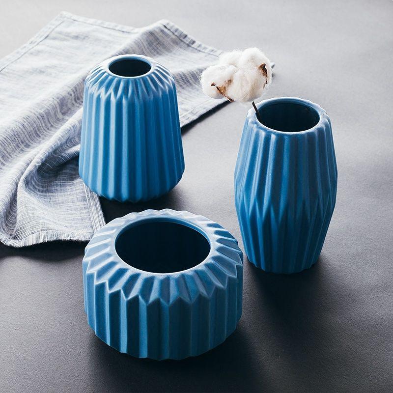 Matt Flower Vase Modern Accessories Centerpiece Ceramics Vases For