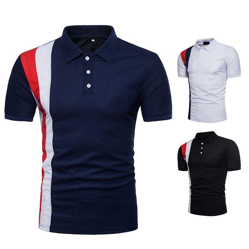 Compre Camisa De Polo Camisas De Diseño A Rayas Negras Marcas Famosas De Polo  Camisas Con Cuello De Solapa Camisas De Algodón Populares De Alta Calidad  ... 2dfc3f272e47d