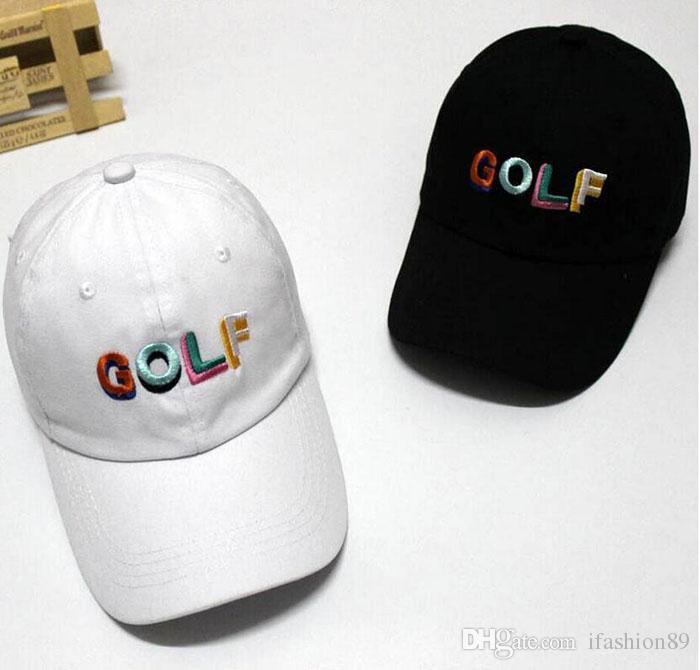 8699352f6e5 2018 Tyler The Creator Golf Hat Black Dad Cap Wang Cross T Shirt Earl Odd  Future DHL Free Ship Richardson Caps Customized Hats From Ifashion89