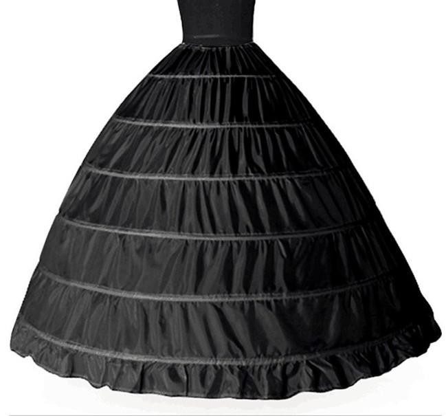 Venta caliente Newest Hermoso Magnífico 6 Hoop Petticoat Crinoline Slip Slipskirt ¡Vestido de novia nupcial Venta caliente!