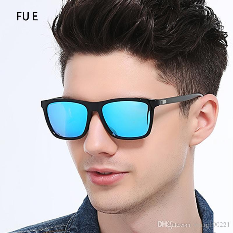 ccab8e0819 FU E Fashion Brand Classic Polarized High Definition Sunglasses Men S Black  Frame Glasses Men S Driver Seat Men And Women Oculos A387 Wiley X Sunglasses  ...