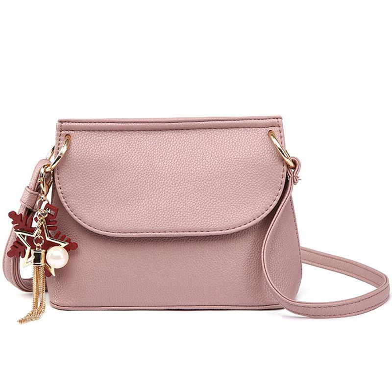 1c904b5b0248 2018 Small Handbags Women Leather Shoulder Mini Bag Crossbody Bag Sac A Main  Femme Ladies Messenger Bag Long Strap Female Clutch Large Handbags Black ...