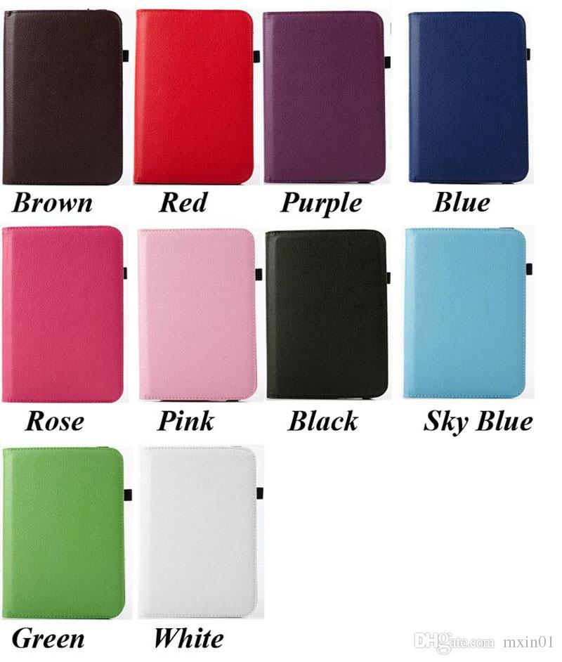 Universale 360 girevole regolabile Flip PU Custodia in pelle 7 8 9 10 10.1 10.2 pollici Tablet PC MID Samsung Tab iPad Huawei
