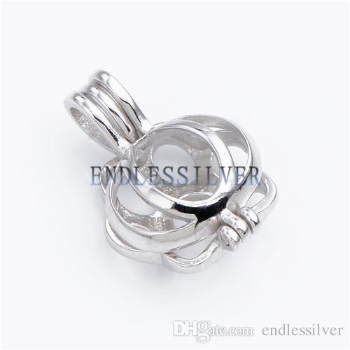 Желая Pearl Bear Claw клетка кулон стерлингового серебра 925 подарок ювелирные изделия Подвеска Подвеска для партии жемчуга