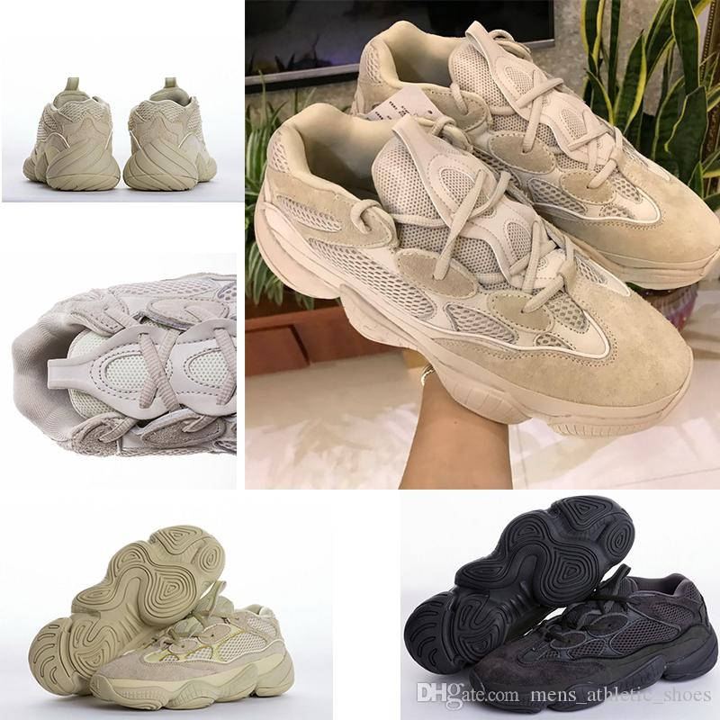 48174e66d9493 Cheap New Desert Rat 500 Super Moon Yellow Kanye Blush Utility Black  Designer Shoes Womens Trainers Mens Luxury Brand Sneakers Sport Shoes  Designer Shoes ...