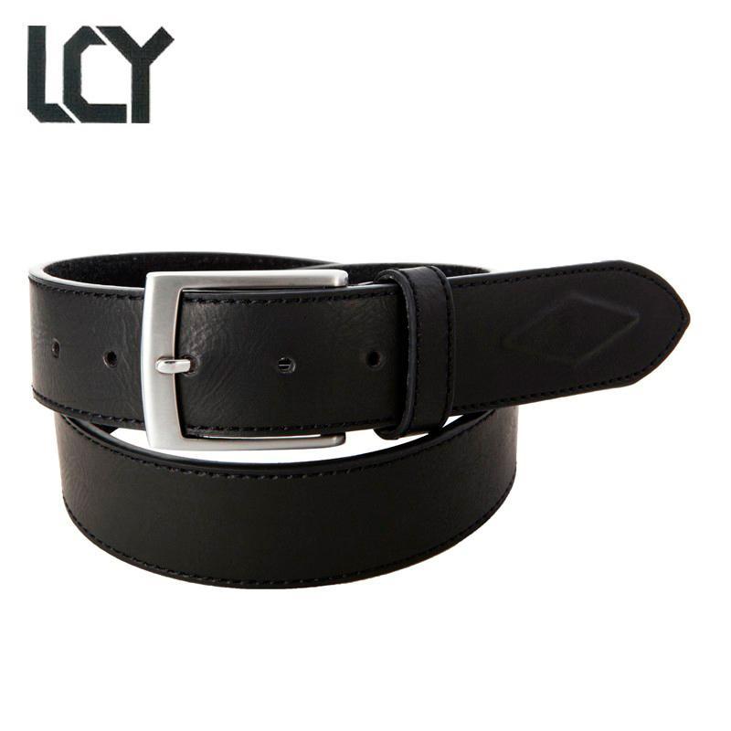 mejor sitio web 33e4c fb596 [LCY] cinturones hombre cinturón de cuero de alta calidad para hombres  diseñador de vaquero ecológico metal pin hebilla para hombre cinturones de  ...