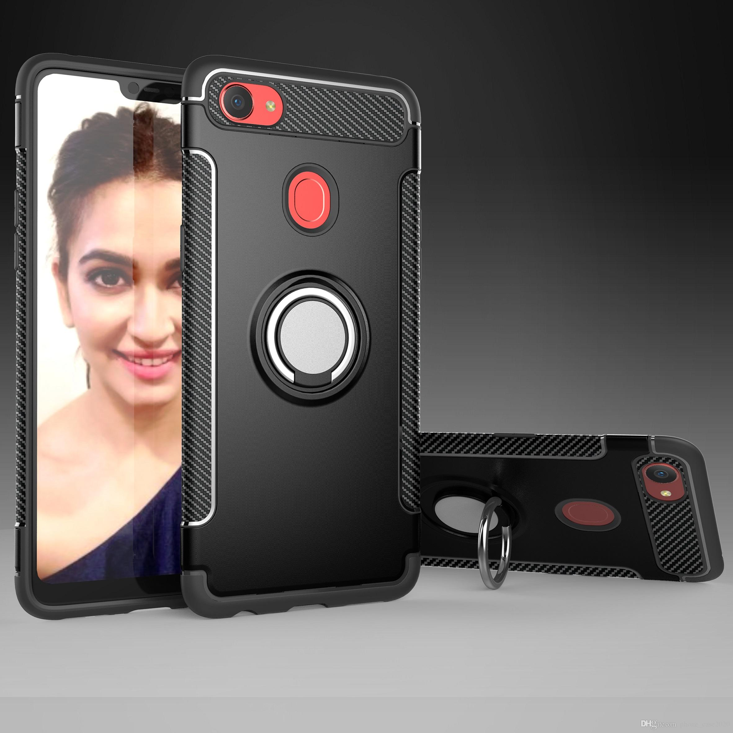Slim 2in1 Hybrid Finger Ring Kickstand Case For Oppo F7 A83 A73 F5 A79 R15 R11s Plus R11 Plus Ballistic Cell Phone Case Bedazzled Phone Cases From