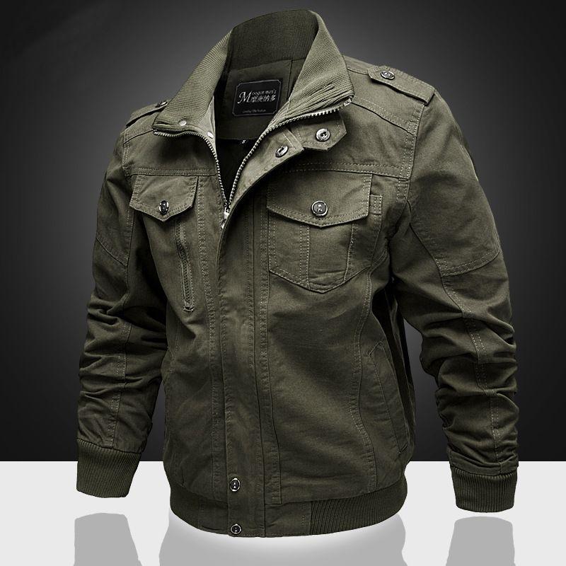 Men s Clothing Mens Designer Jacket 2018 autumn men s jacket military  uniform outdoor cotton casual Europe and large size coat