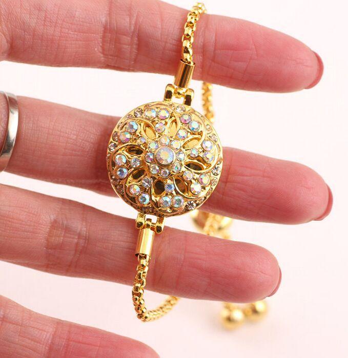 18mm Gold Metall Druckknopf Fit Snap Armband Armreifen Charme Strass Stile Taste Rivca Snaps Schmuck NOOSA Chunk