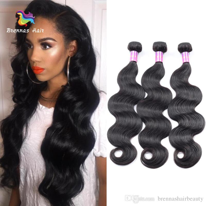Peruvian Body Wave 100% Human Hair Weave Bundles Natural Black Color  Unprocessed Remy Hair Extensions For Black Women Cheap Weave Hair Cheap  Hair Weaves ... ce358f3bf