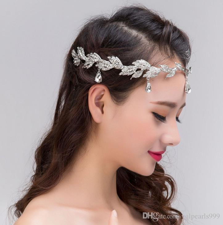 Die Braut Frontlet Diamond Hochzeit Tiara Krone Diamond Anhänger Augenbrauen Brautschmuck