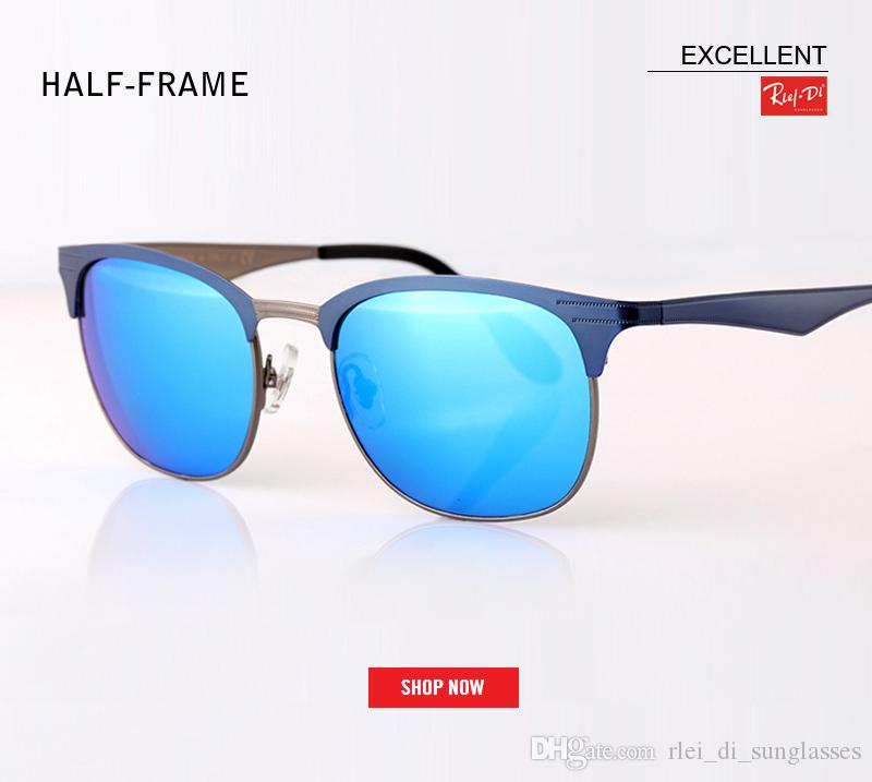 dc618bc3bc 2018 Brand Rimless Sunglasses Women Men Brand Designer Club Master ...