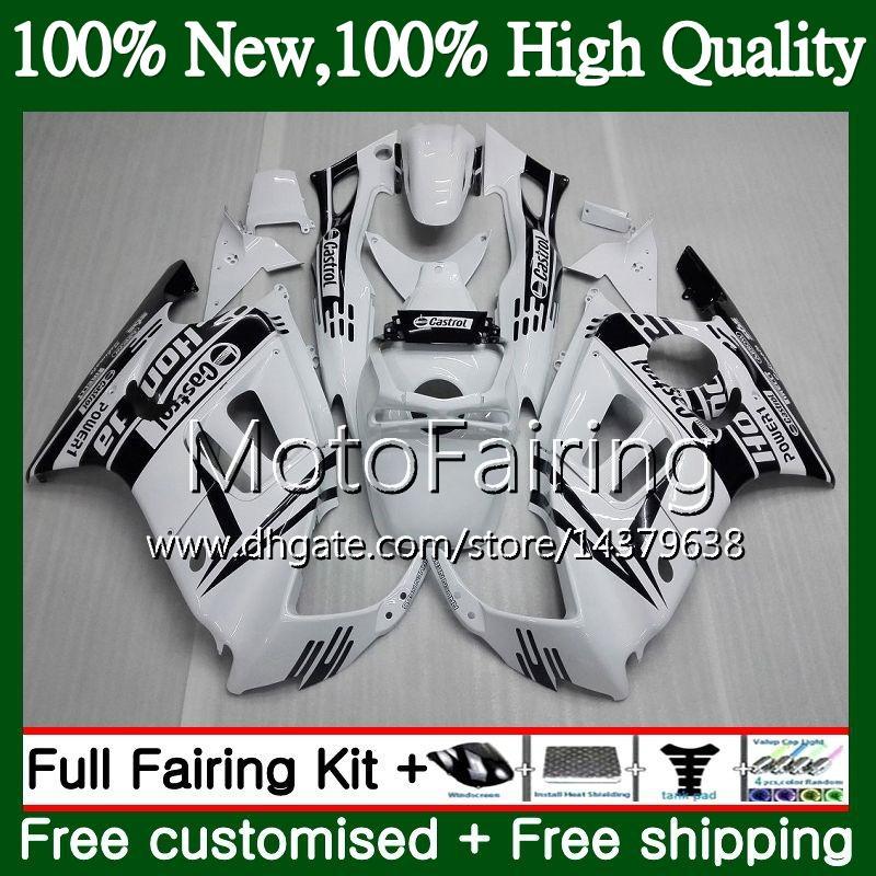 Cuerpo para HONDA CBR600 F3 CBR600RR F3 CBR600FS 95 96 47MF15 CBR 600F3 FS CBR600F3 CBR 600 F3 Negro blanco 1995 1996 Fairing Bodywork kit