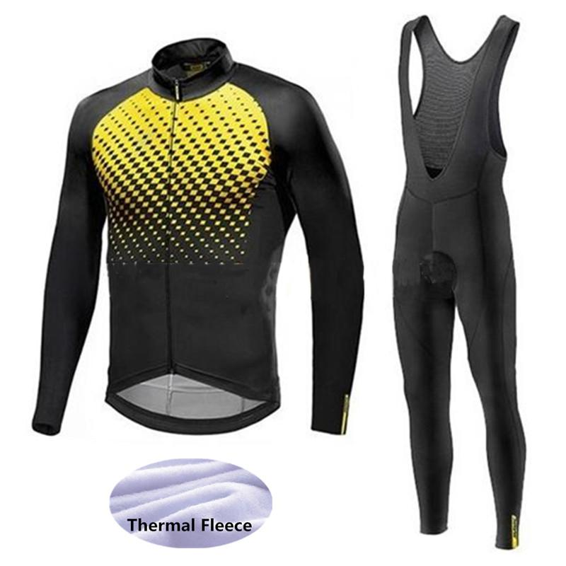 2018 Mavic Cycling Jerseys Cycling Set Winter Thermal Fleece Long Sleeves  Racing MTB Suit Maillot Bike Clothing Ropa Ciclismo Sets Cycling Jerseys Set  ... 6152d0fae
