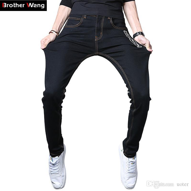 0646d337e Wholesale- 2017 New Men Skinny Jeans Fashion Stretch Male Slim Black ...