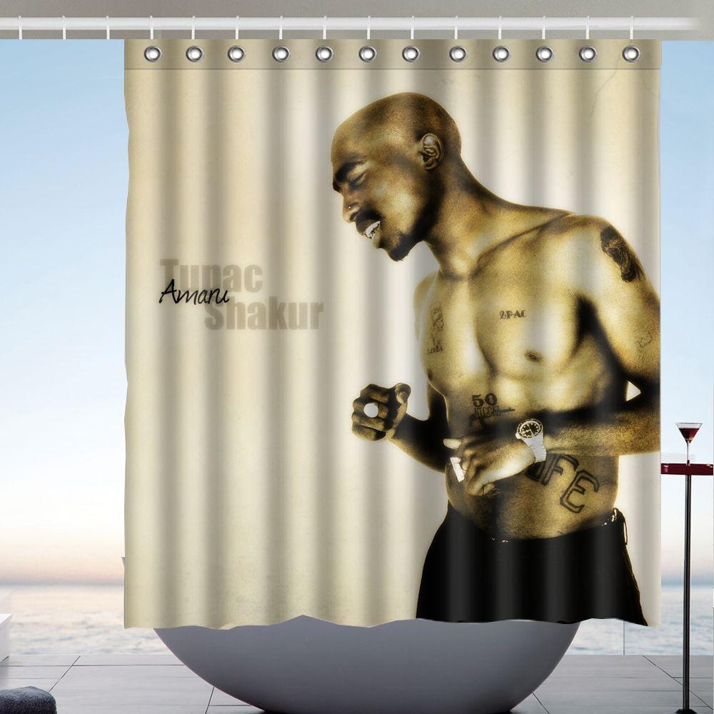 2018 2Pac Tupac Amaru Shakur Custom 66 X72 Waterproof Polyester Fabric Bathroom Shower Curtain From Littemanthree 2513