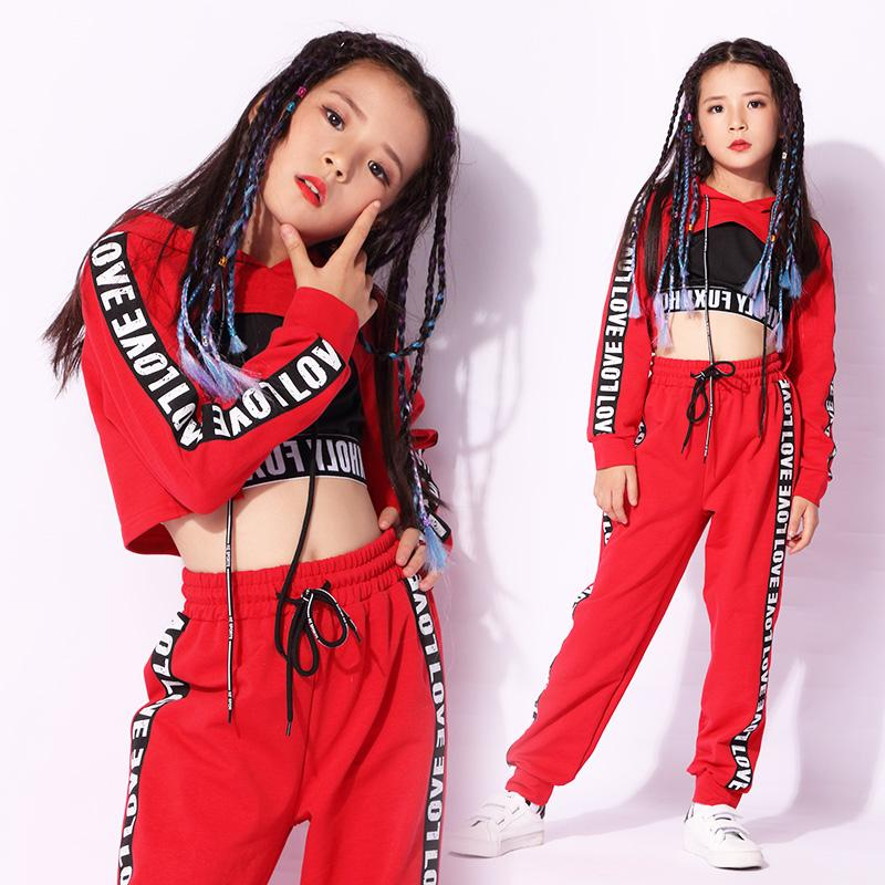 b1ee6807cae5e New children's costumes autumn girls street dance hip hop dance clothes  jazz performance clothes exercise