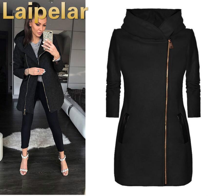 5a11a624ea27 2019 Fashion Women Autumn Winter Clothes Warm Fleece Jacket Slant ...
