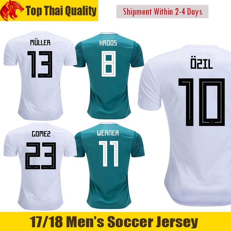 2018 world cup national ozil soccer jerseys werner kroos jersey goretzka muller football shirt mario