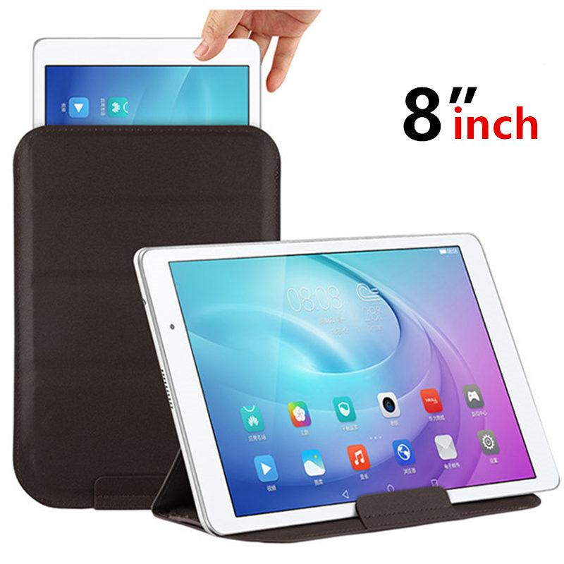 pretty nice de411 b575d Case Sleeve For Lenovo Tab 4 8 Plus Tab 3 8 Protective Smart cover  Protector 2 Pro Leather Tablet PC PU Case Covers 8inch
