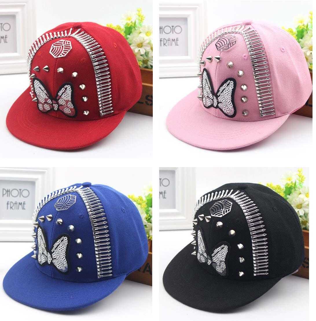 54f011bd1137e Kids Snapback Caps Children Skateboard Cap Adjustable Girls Outdoor Sports  Hats Ball Caps Butterfly Fitted Caps Black Baseball Cap From Shunhuico