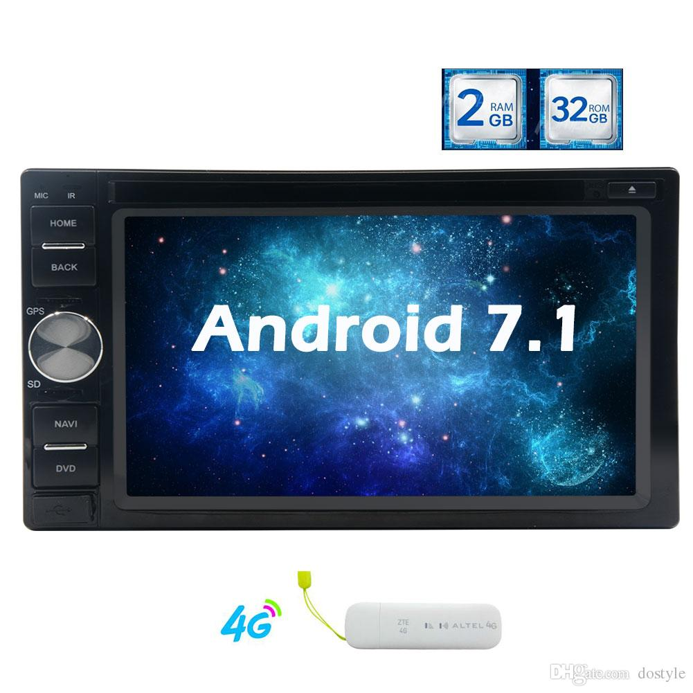 Octa Core Android 7.1 Car Dvd Player In Dash Gps Navigation System  Universal Double 2 Din Autoradio Bluetooth Stereo Headunit Wifi Mirror  Portable Car Dvd ...