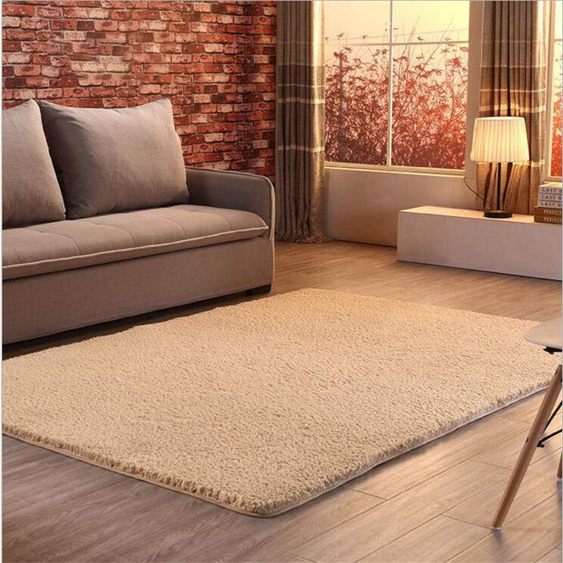 Soft Thicker Shaggy Long Hair Simple Large Carpets For Living Room Bedroom  Rugs Home Carpet Japanese Style Floor Rug Door Mat