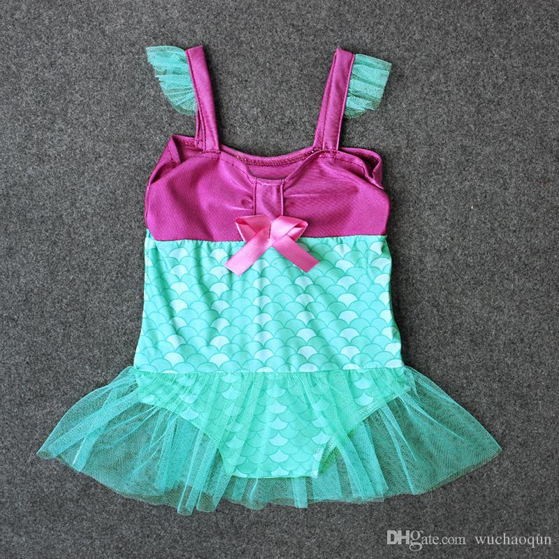 Baby Mermaid swimsuits kids lace swimwear 2018 new summer Fish scales infant Bikinis