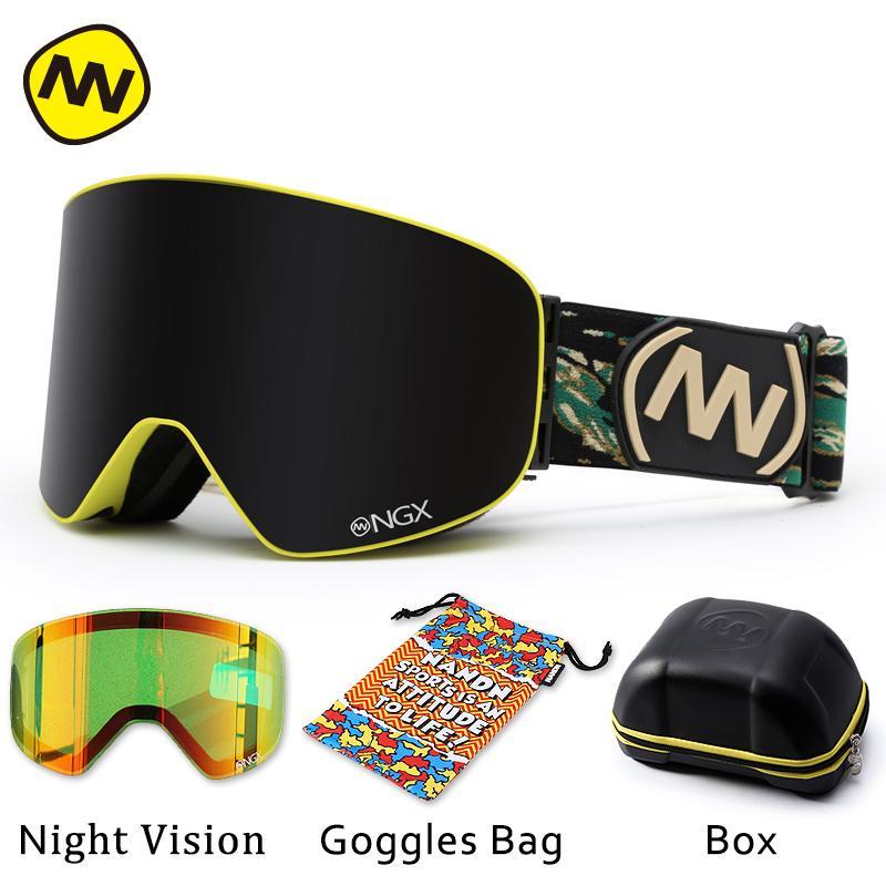 1e2c056f73 NANDN Ski Goggles Skiing Eyewear Double Lens UV400 Anti-fog Adult Snowboard  Skiing Glasses Women Men Snow Eyewear Skiing Eyewear Cheap Skiing Eyewear  NANDN ...