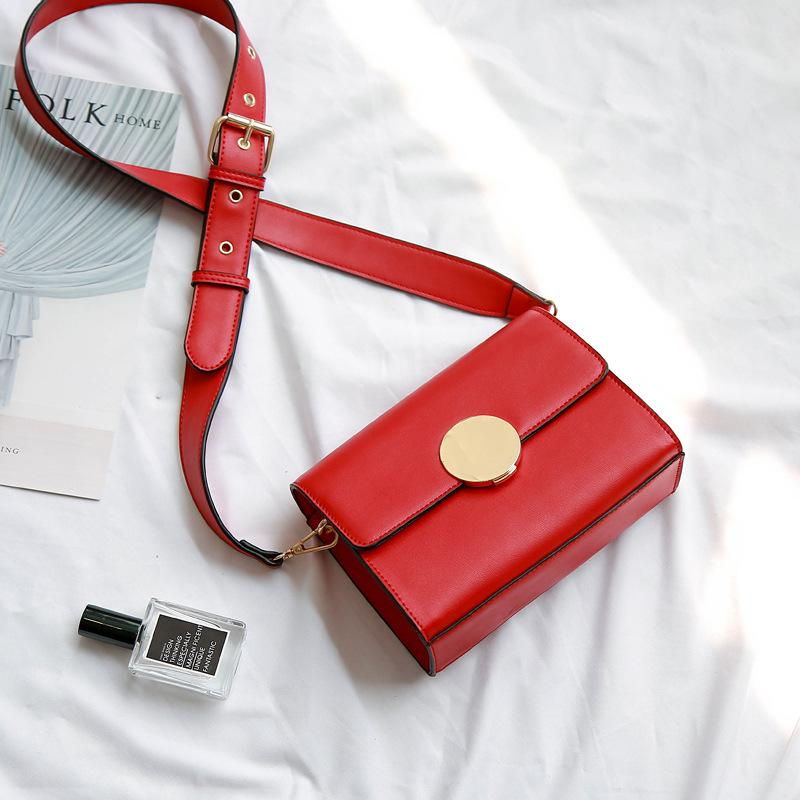 208043ce86 Fashion Designer Round Lock Red Small Square Bag Chains Women Crossbody  Bags 2018 Leather Satchel Shoulder Bag Clutch Sac A Main Laptop Bags  Briefcase From ...