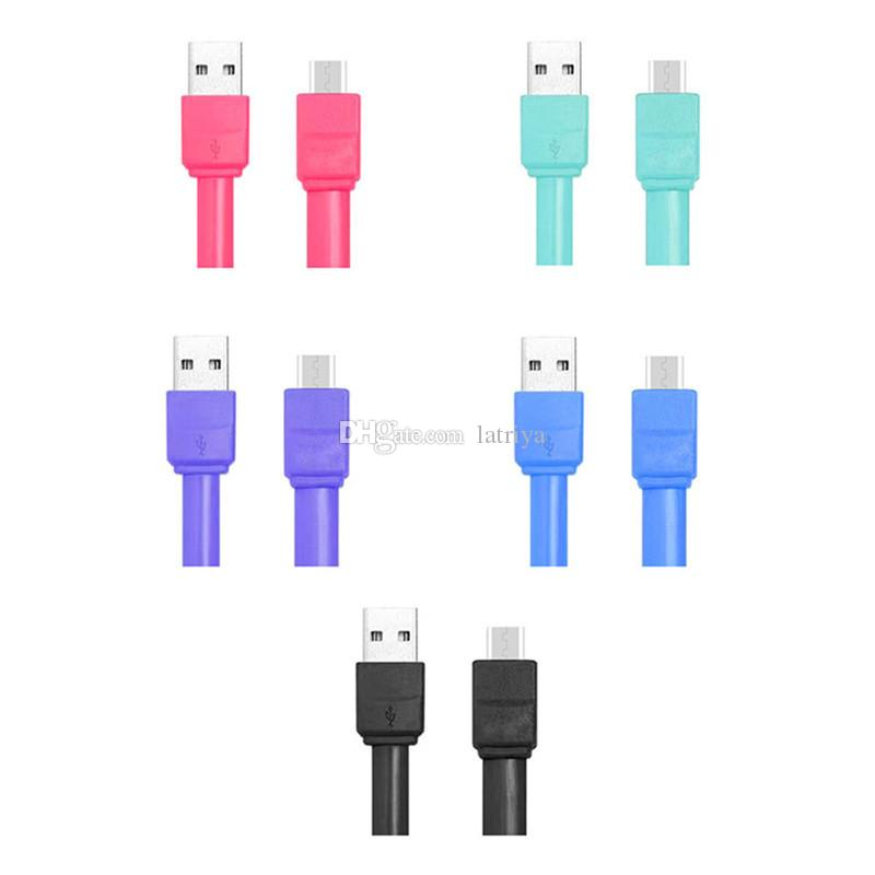 20cm colorful PVC Candy package USB A to micro data sync charging cable USB to Type C cable for power bank smartphone with package
