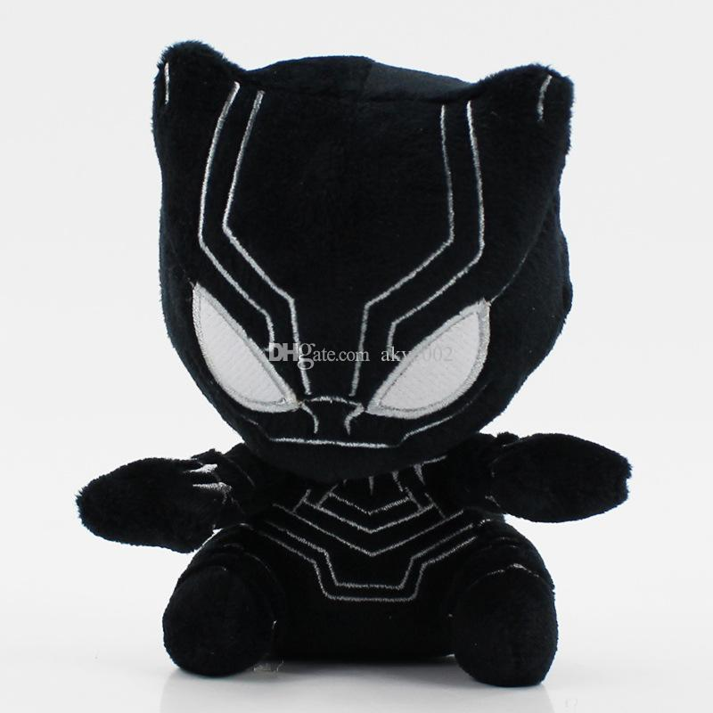 "Hot Sale 7 Style 4.5"" 12cm The Avengers Superman Black Panther Wonder Woman Plush Doll Stuffed Toy For Gifts"