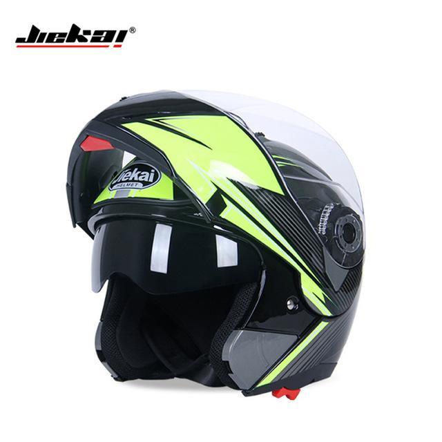 d213f399 New Arrive DOT Flip Up Helmet Motorcycle Helmet Racing Motorcross Full Face  Dual Visor System JIEKAI 105 Motorcycle Racing Helmets Motorcycle Road  Helmets ...