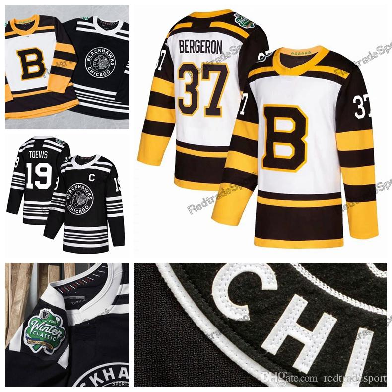 5273f32e7 2019 2019 Winter Classic Boston Bruins Rask Bergeron Chara Marchand Chicago  Blackhawks Jonathan Toews Patrick Kane Keith Crawford Hockey Jerseys From  ...