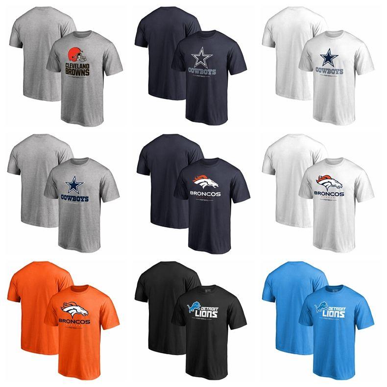 lowest price 05719 24d64 2018 Men Dallas Cowboys Tee Browns Cleveland T Shirt Denver Broncos Lions  Detroit Pro Line Gray Black Blue Big & Tall Team Lockup T-Shirt