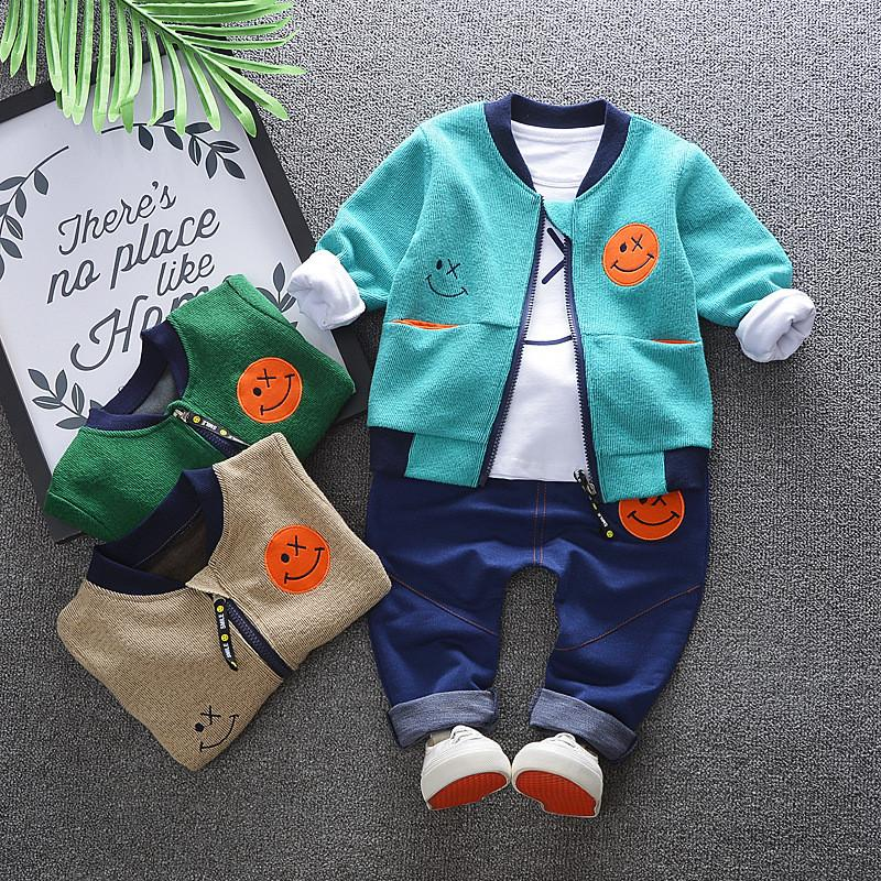 dc0baf36eeae New 2018 Autumn Spring Boys Clothing Sets Kids Tracksuit Sets for ...
