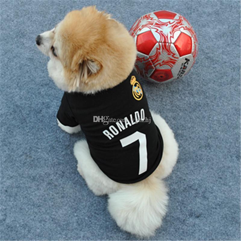 La ropa al por mayor del perro casero de la primavera y del otoño de la fábrica, camiseta, ropa de deportes negra fresca del animal doméstico, envío libre
