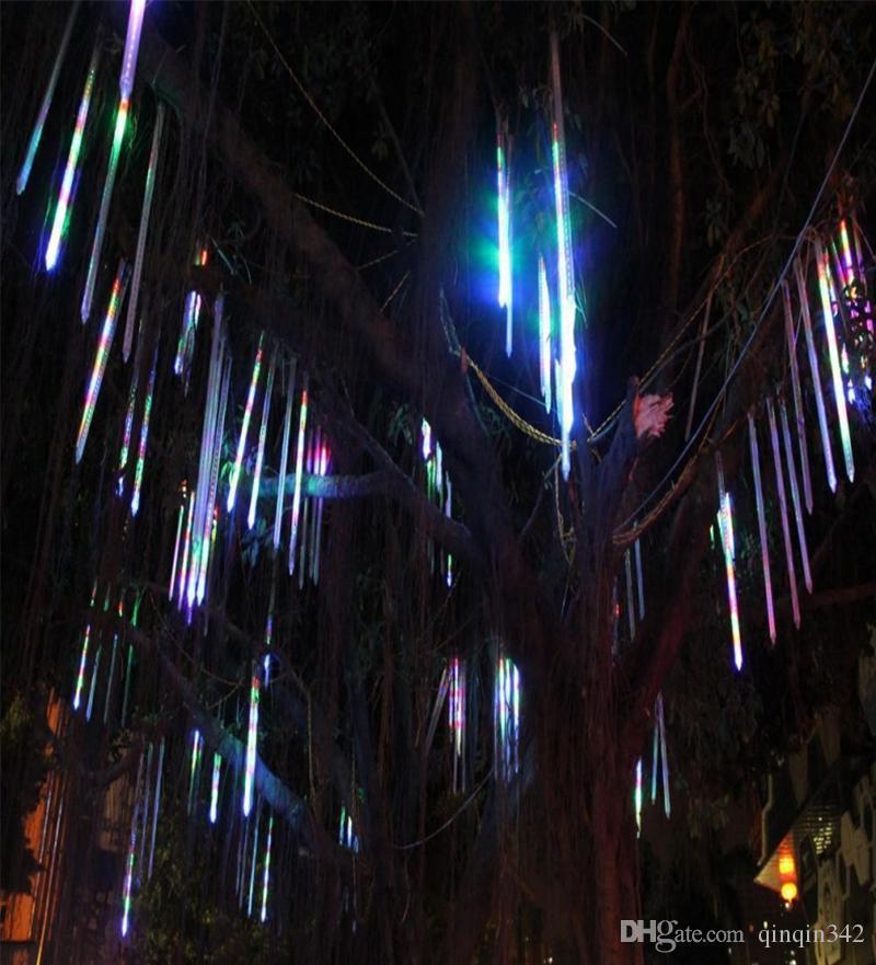 Led 2017 8 Teile / satz Schneefall FÜHRTE Streifen Licht weihnachtsbeleuchtung Regen Rohr Meteorschauer Regen FÜHRTE Lichtrohre 100-240 V EU / US Stecker