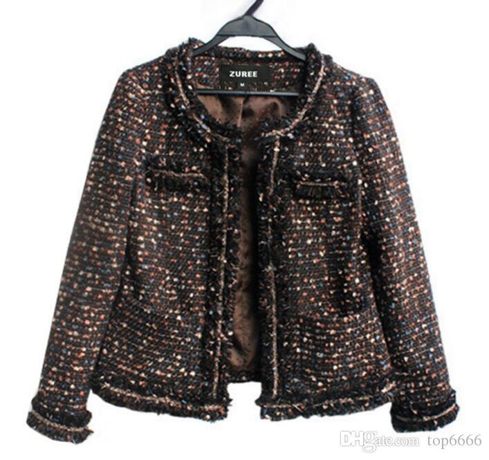 Women winter coat Luxury Noble Short Banquet Beaded tassel Ladies Custom banquet OL suit jacket