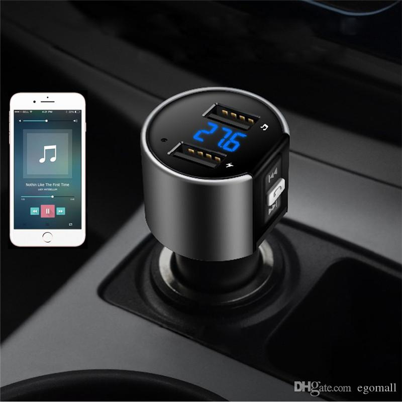 Wireless In-Car Bluetooth FM Transmitter Radio Adapter Car Kit Black MP3 Player USB Charge