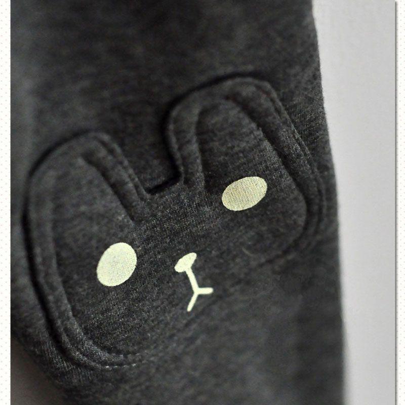 Cute Rabbit Cat Warm 2018 Winter Baby Girls Pattern Leggings Grey Red Black Girls Pants Autumn Thick Pencil Pants New Arrival