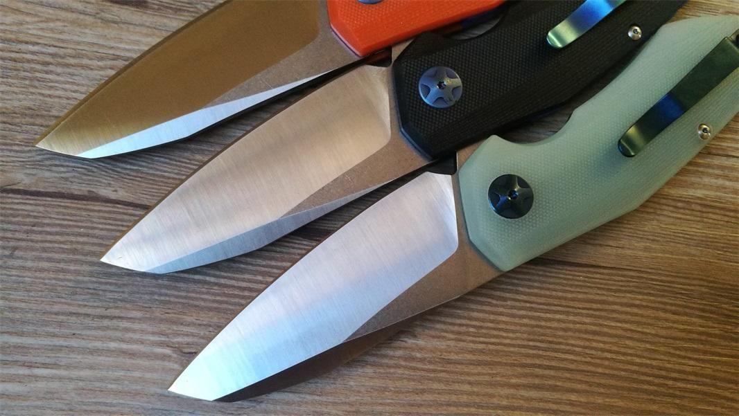 ZT 0456 Cuchillos plegables D2 Cuchillo Cuchillo de bolsillo táctico G10 Manija Al aire libre Camping Cuchillo Cuchillo Cocina Cena Cortador