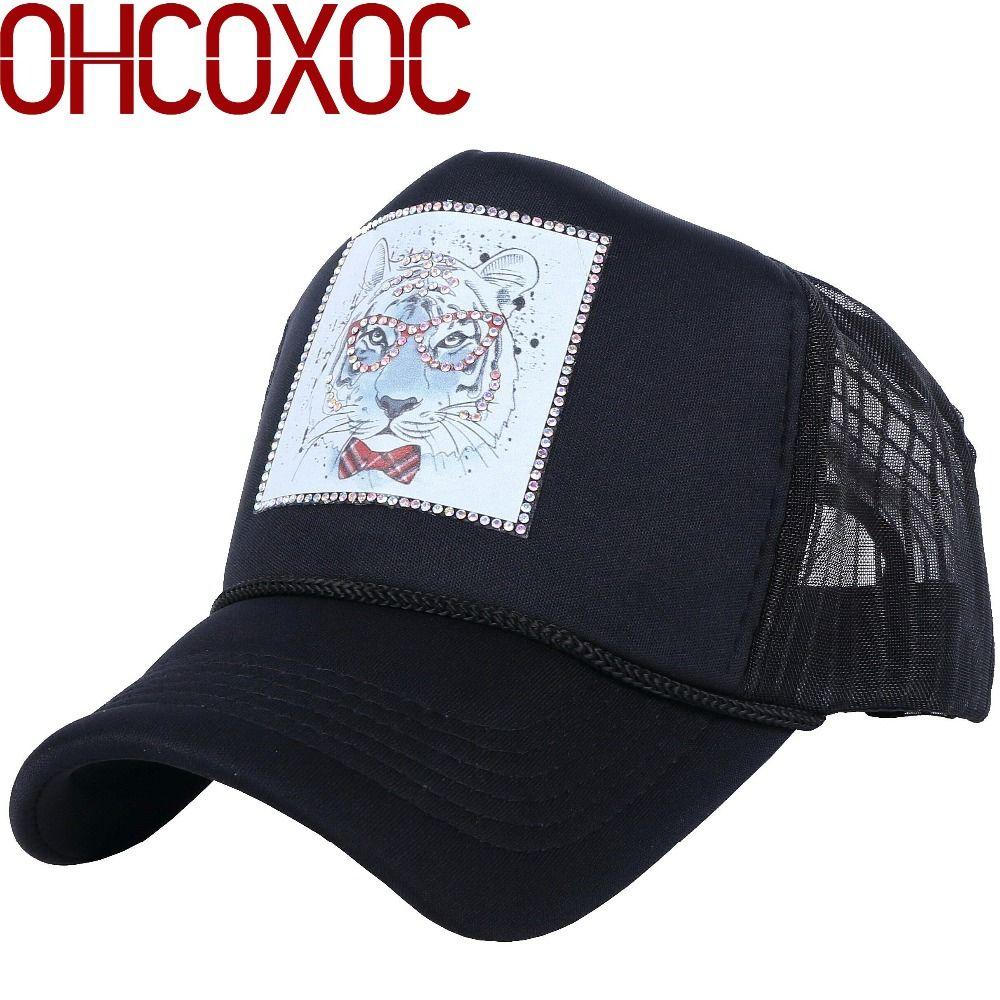 9ffb0c9e2b2 New Men s Women s Casual Summer Baseball Cap Rhinestone Luxury Hats Custom  Designer Animal Model Outdoor Girl Boy Sun Casquette Richardson Caps  Customized ...
