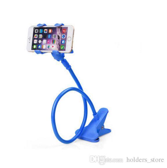 아이폰에 대한 자동차 전화 홀더 보편적 인 긴 팔 게으른 전화 구즈넥 스탠드 홀더 유연한 침대 책상 테이블 클립 브라켓 X 8 7 삼성