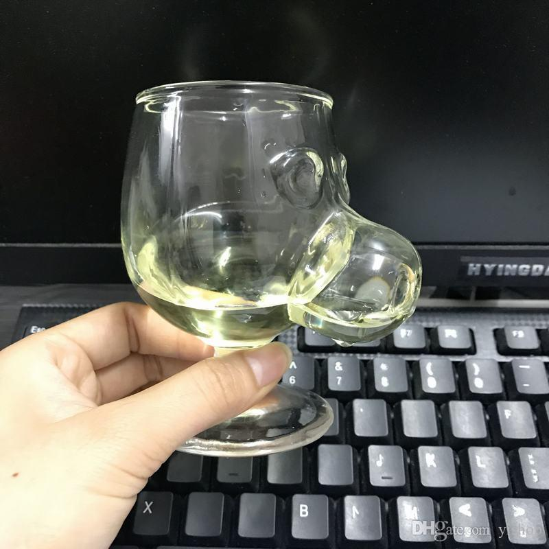 Home & Garden Creative Skull Shape Glass Cup Hand-printed Whisky Cocktail Cup Water Tumbler Fashion Drinkware Luxury Mug 1pcs