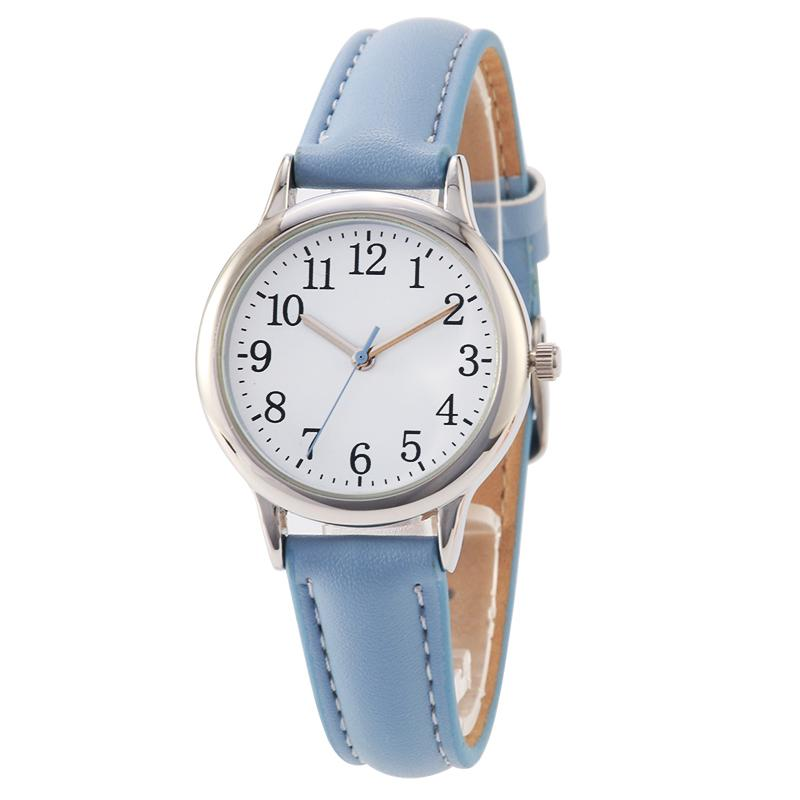 Arabic Numbers Lady Style Women Watch Candy Color Straps Leather Band  Simple Dial Trendy Watches Affordable Watches From Splendone 5b02df538